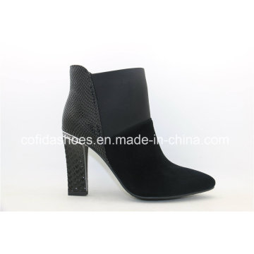 High Quality Sexy Square Heel Leather Ladies Boots