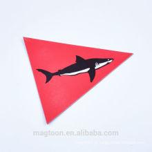 2016 personalizado de alta qualidade do tubarão papel de design crianças ímãs de refrigerador brinquedo