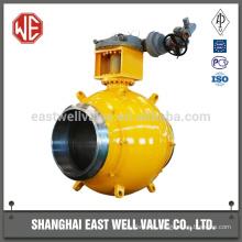 High performance pipeline fully welded ball valve