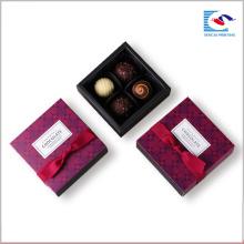 Caixas de papel de Chocolate de gaveta deslizante feitos à mão feitos sob encomenda de venda quente