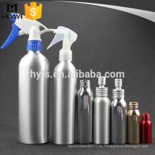 Botella de aluminio recargable del espray del disparador para el perfume