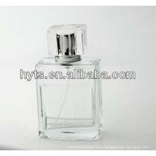 botella de cristal clara vacía de 100ml para el perfume