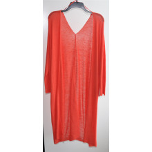 Mujeres Longline Open Pure Color Cardigan de punto