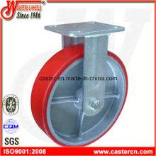 8 Zoll PU auf Eisen Fixed Caster