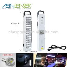 Tiempo de ligereza 4-6 horas 2x4V 900mAH Batería interna 42LED de pared de emergencia recargable linterna