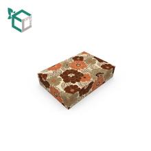 Элегантный Фланель Цветочный Дизайн Бумажная Упаковывая Косметическая Коробка