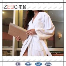 100% Baumwollhandtuch Stoff Star Hotel Großhandel Weiß Bademantel Hersteller