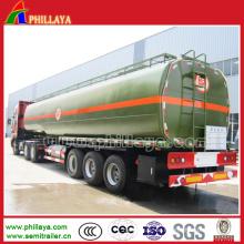 Stahltanker-chemische flüssige HCl-Säure-Transport-halb Behälter-Anhänger