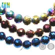 A5003 # -4 96 Facetten Zentrum gebohrt Chunky Crystal Earth Glas Discokugel Perlen