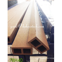 Coluna de madeira impermeável Ultra-Resistente da grão WPC do revestimento de madeira Sythenic