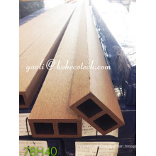 Ultra-Resistant Sythenic Wood Flooring Damp-Proof WPC Wood Grain Column