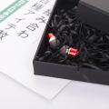Caixa de embalagem de fone de ouvido bluetooth preto com tampa