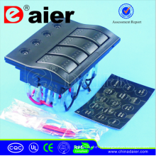 Painel impermeável 12V / 24V do diodo emissor de luz, interruptor do painel