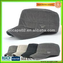 Wholesale Plain Military Style Flat Top Caps AMC-1207