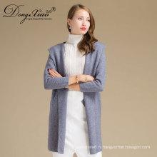 Livraison rapide à manches longues2 couleurs femmes pull tricot Tricot d'hiver 100% pull en cachemire
