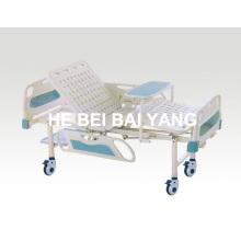 A-84 Cama de hospital móvel de função dupla móvel