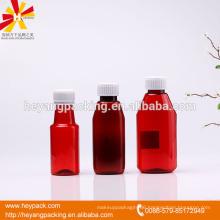 Hot sell 100/180ml pharmaceutical plastic bottle
