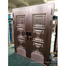 Puerta de cobre superior de diseño de lujo