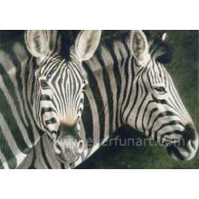 Peinture à l'huile Zebra sur toile