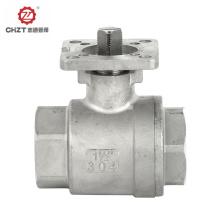 High platform BSPT threaded ball valve
