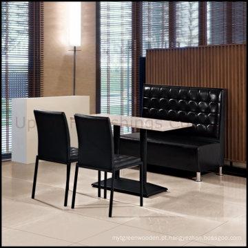 Conjunto de móveis de restaurantes - Banquete de mesa, cadeira e cabine de jantar (SP-CT508)