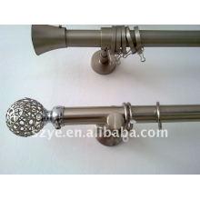 25mm Good sliding nickel plated aluminium curtain rod