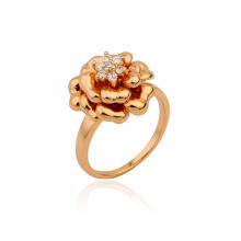 Venta caliente Xuping flor real Shapped anillo de joyería