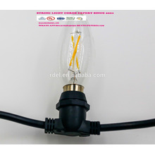 SLT-125 UL-Zulassung IP44 wasserdicht JT-3 Amerika Stecker Netzkabel Lichterkette mit Lampenfassung