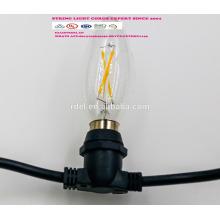 SLT-125 UL approbation IP44 étanche JT-3 Amérique prise cordon d'alimentation cordon lumières avec porte-lampe