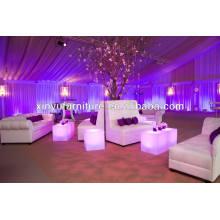 Elegant white leather wedding sofa set XY0325