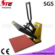 Máquina de impresión plana manual de la máquina de la prensa del calor de la sublimación para la tela