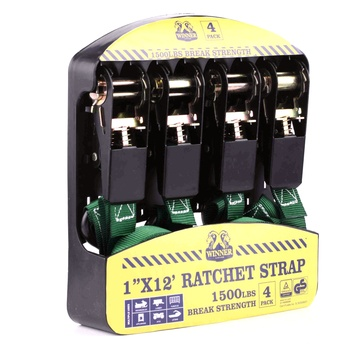 4-pack 25 mm ratchet-riemen