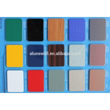 Panneaux composites d'aluminium aluminium isolés de haute qualité de la largeur 2M PVDF