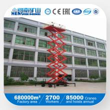 Mesa hidráulica de elevação de tesoura hidráulica usada no interior ou no exterior