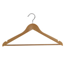 Wooden Hanger With Non Slip Bar and Notches