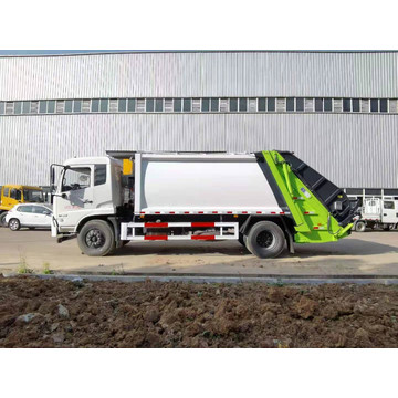 12ton compressed waste collection truck hang garbage bins
