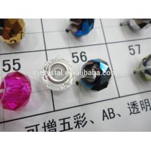 roundel facet big hole beads