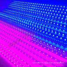 16 píxeles 64leds 3d led tube estrella fugaz dmx smd5050 rgb led 3d meteor luz