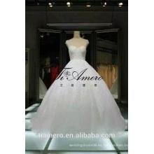 1A088 Tiamero última fábrica de China de diseño hizo vestido de boda con cuentas de bola vestido