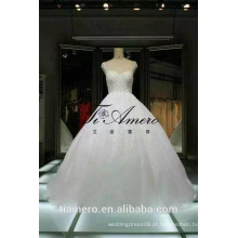 1A088 Tiamero Últimas Design China Factory Made Beaded Ball Gown Wedding Dress