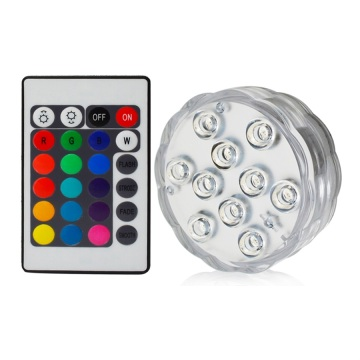 Luz de piscina LED sumergible colorida de 3W