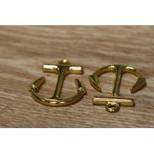 Anclaje de la pulsera del oro material de la aleación del cinc para la decoración