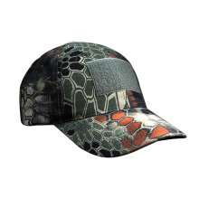 Polyester Camo Printing Baseball Hat Custom Camo Magic Tape Patch Baseball Cap