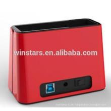 USB 3.0 HDD Docking Station mit Netzteil für Laptop, unterstützt alle 2,5 / 3,5-Zoll-SATA Festplatte