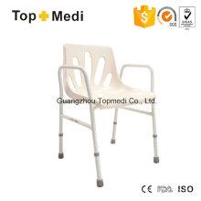 Topmedi Aluminium Duschstuhl mit Armlehne und Rückenlehne