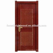 Diseño popular simple Melamina Diseño más reciente Puertas de madera