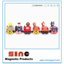 Мода деревянные магнитные поезда образовательные игрушки