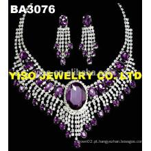 Conjunto de jóias de casamento de luxo