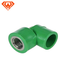 20MM- 110MM color verde PPR Pipe Female Thread Elbow