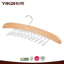 Perçage et support de cravate en bois